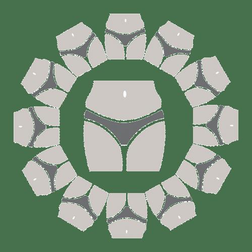 Women's wearing panty in circle